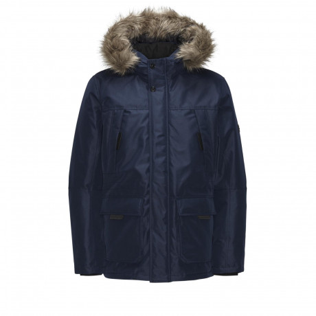 Jack & Jones Padded Parka Jacket Navy Blazer | Jean Scene