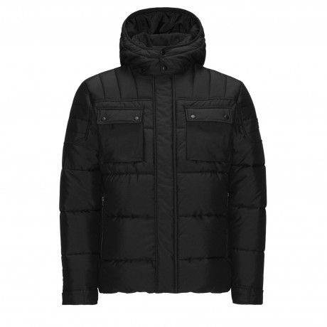 Jack & Jones Padded Puffer Jacket Black | Jean Scene