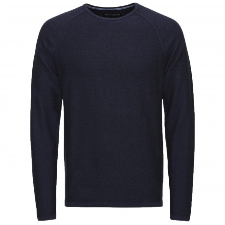 Jack & Jones Premium Men's Trevor Knit Jumper Navy Blue | Jean Scene