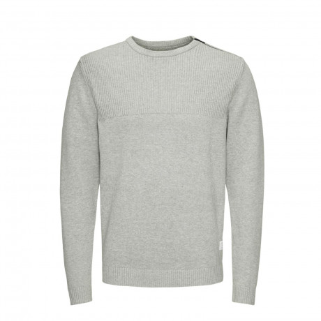 Jack & Jones Core Men's Work Knit Jumper Light Grey | Jean Scene