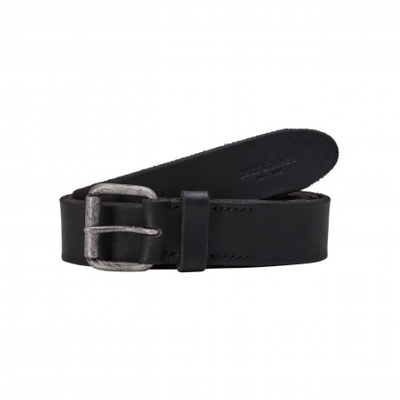 Jack & Jones Jakob Leather Belt Black | Jean Scene