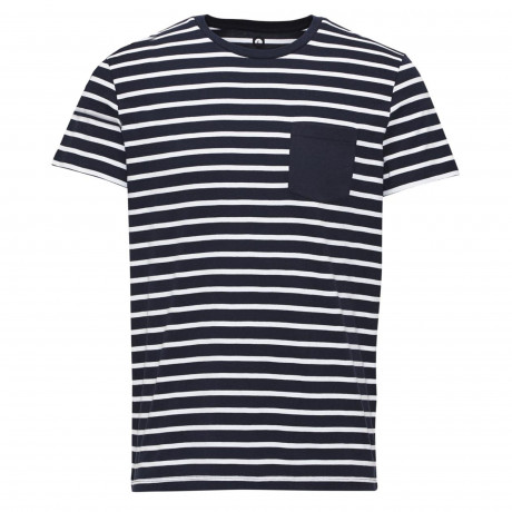 Jack & Jones Core Crew Neck Table Stripe T-shirt Navy Blazer | Jean Scene