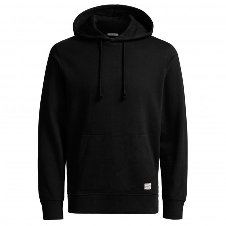 Jack & Jones Men's Wind Overhead Hoodie Black | Jean Scene