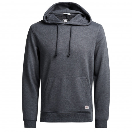 Jack & Jones Men's Wind Overhead Hoodies Dark Grey | Jean Scene