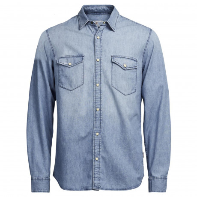Jack & Jones Denim Shirt Long Sleeve Light Blue | Jean Scene