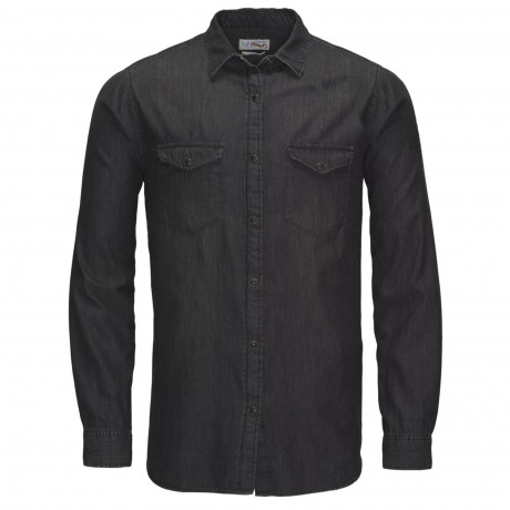 Jack & Jones Denim Shirt Long Sleeve Black Denim | Jean Scene