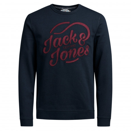 Jack & Jones Originals Men's Long Board Logo Sweatshirt Navy | Jean Scene