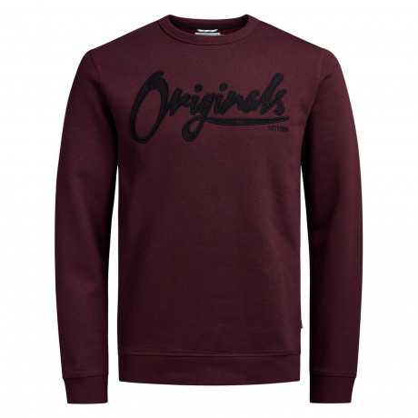 Jack & Jones Originals Men's Long Board Logo Sweatshirt Port Royale | Jean Scene