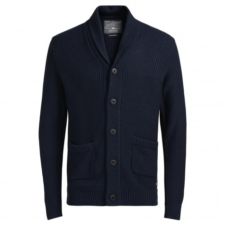 Jack & Jones Originals Men's Anthon Knit Cardigan Navy Blazer | Jean Scene