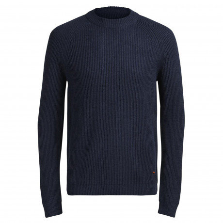 Jack & Jones Anvarton Crew Neck Wool Blend Jumper Blue | Jean Scene