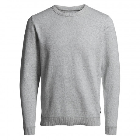 Jack & Jones Core Men's Twisting Knit Jumper Light Grey | Jean Scene