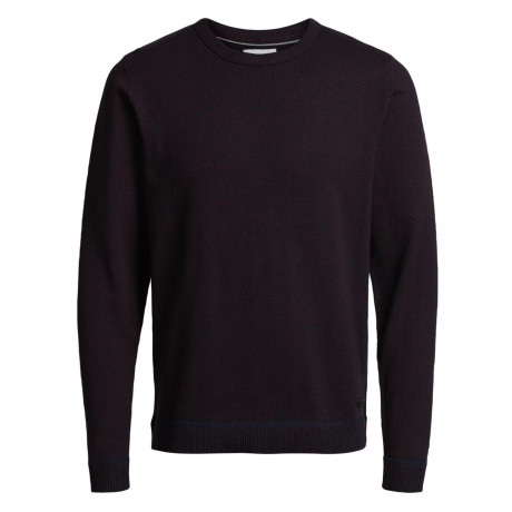 Jack & Jones Core Men's Twisting Knit Jumper Port Royale | Jean Scene