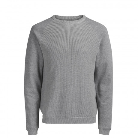 Jack & Jones Core Men's Kane Knit Sweatshirt Light Grey | Jean Scene