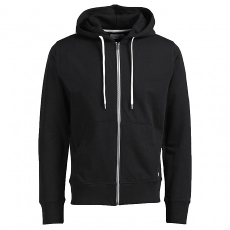 Jack & Jones Men's Storm Zip Up Hoodie Black | Jean Scene