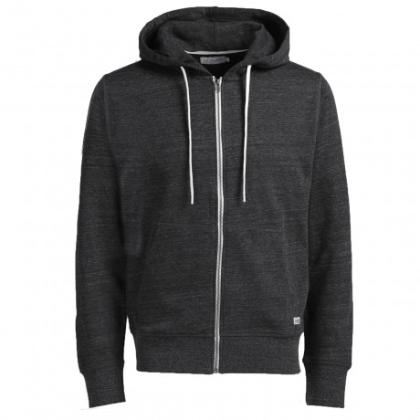 Jack & Jones Men's Storm Zip Up Hoodies Dark Grey | Jean Scene