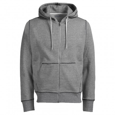 Jack & Jones Men's Storm Zip Up Hoodies Light Grey | Jean Scene