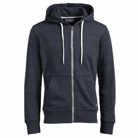 Jack & Jones Men's Storm Zip Up Hoodie Navy Blazer | Jean Scene