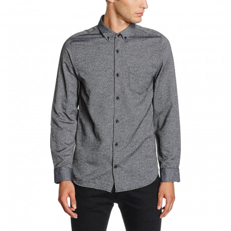 Jack & Jones Bail Plain Shirt Long Sleeve Medium Blue Blue | Jean Scene