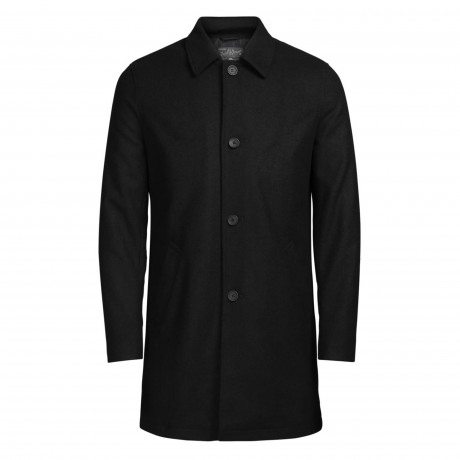 Jack & Jones Originals City Wool Blend Coat Black | Jean Scene