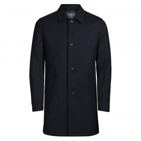 Jack & Jones Originals City Wool Blend Coat Navy Blazer | Jean Scene