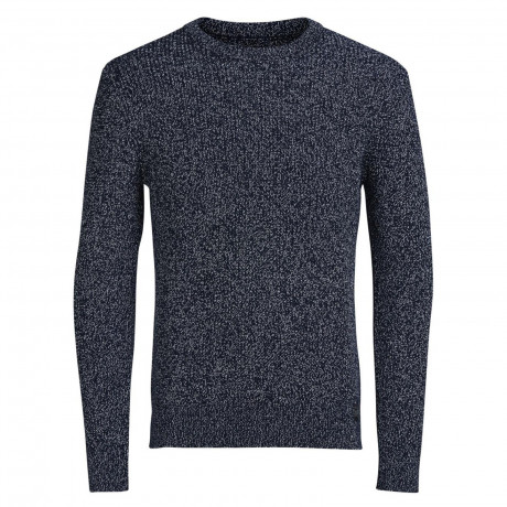 Jack & Jones Lawrence Crew Neck Wool Blend Jumper Blue | Jean Scene