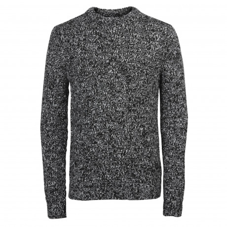 Jack & Jones Lawton Crew Neck Wool Blend Jumper Black | Jean Scene
