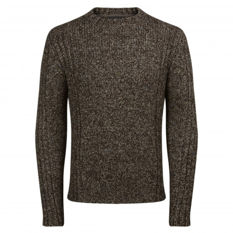 Jack & Jones Branson Crew Neck Wool Blend Jumper Grey | Jean Scene