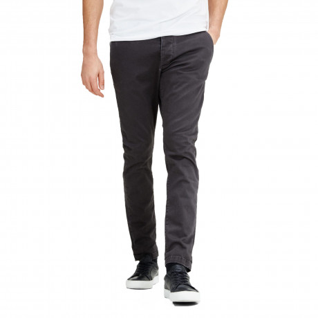 Jack & Jones Marco Enzo Slim Fit Cotton Chinos Dark Grey | Jean Scene