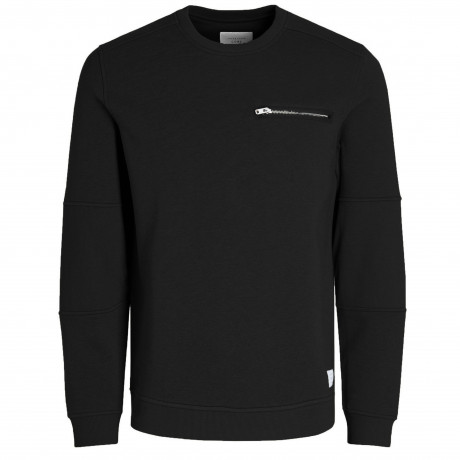 Jack & Jones Core Men's Pete Logo Sweatshirt Black | Jean Scene
