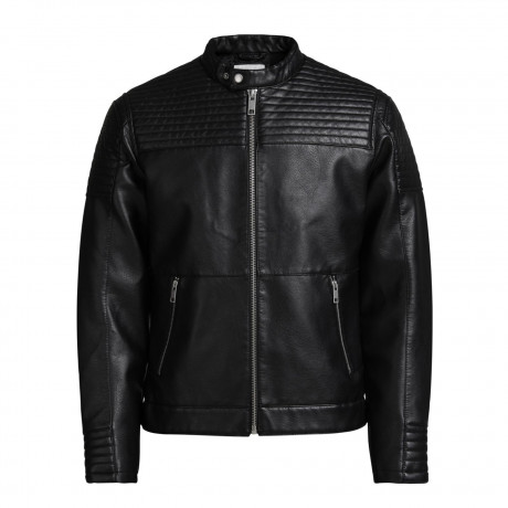 Jack & Jones Faux Leather Jacket Black | Jean Scene