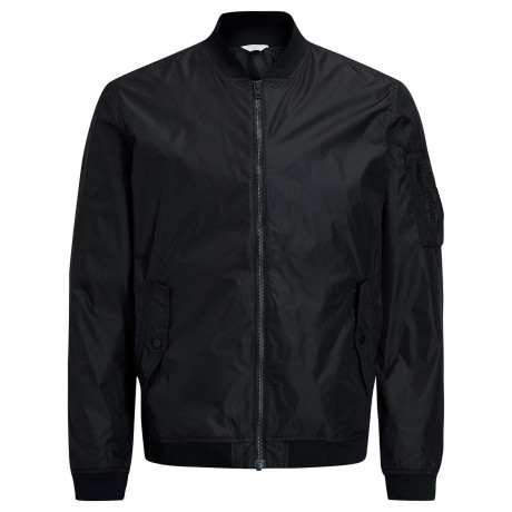 Jack & Jones Fashion MA1 Lightweight Jacket Black | Jean Scene