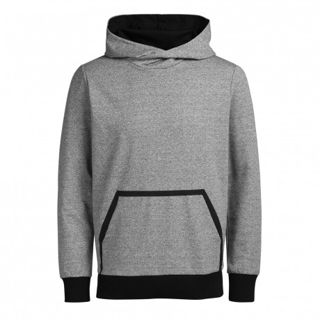 Jack & Jones Overhead Men's Wallen Hoodie Grey Melange | Jean Scene