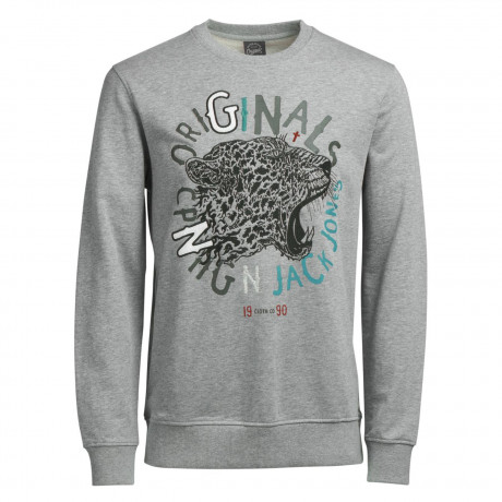 Jack & Jones Core Men's Sleep Tiger Sweatshirt Light Grey | Jean Scene