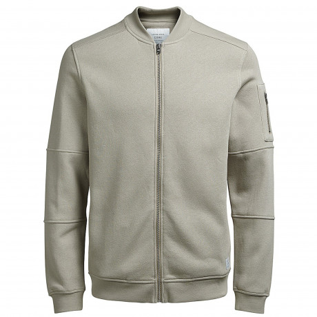 Jack & Jones Core Zip Up Baseball Sweater Simply Taupe | Jean Scene
