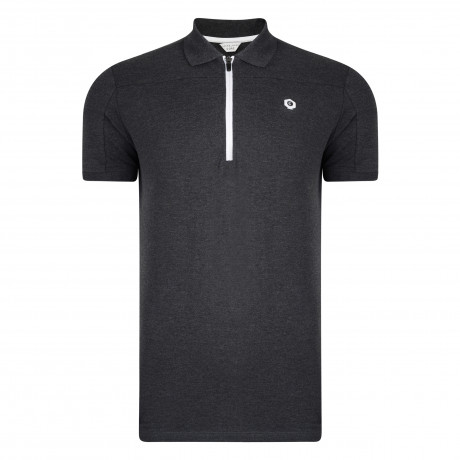 Jack & Jones Core Wonder Polo Pique T-Shirt Dark Grey | Jean Scene