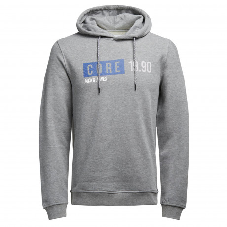 Jack & Jones Overhead Men's Willy Hoodie Light Grey | Jean Scene