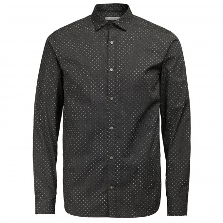 Jack & Jones Premium Jesper Shirt Long Sleeve Black | Jean Scene