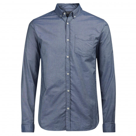 Jack & Jones Originals Cutback Shirt Long Sleeve Ensign Blue | Jean Scene