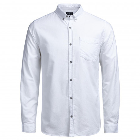 Jack & Jones Originals Cutback Shirt Long Sleeve White | Jean Scene