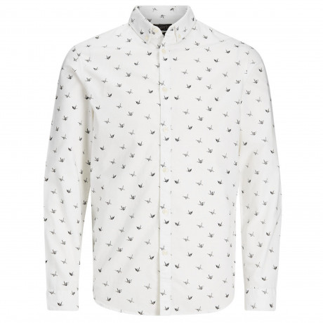 Jack & Jones Originals Choppy Shirt Long Sleeve Cloud Dancer | Jean Scene