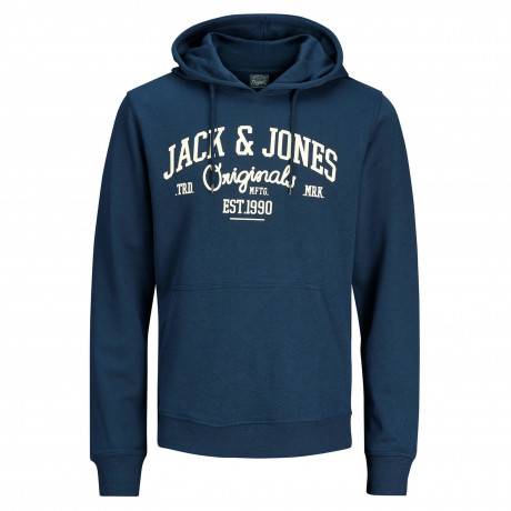 Jack & Jones Overhead Men's Diego Hoodie Ensign Blue | Jean Scene