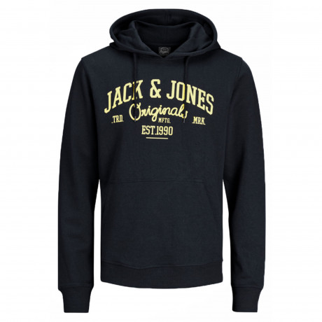 Jack & Jones Overhead Men's Diego Hoodie Total Eclipse | Jean Scene