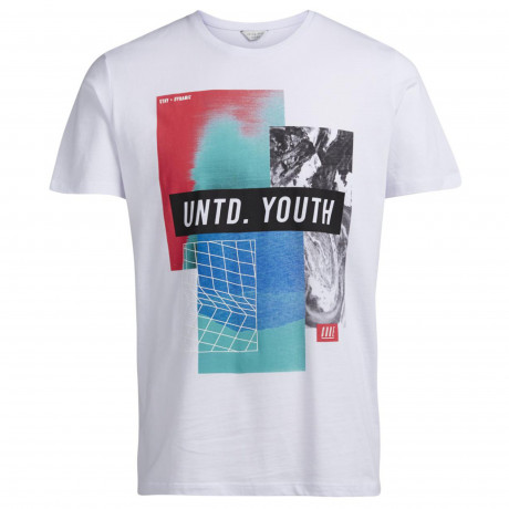 Jack & Jones Core Crew Neck Moon Print T-shirt White | Jean Scene