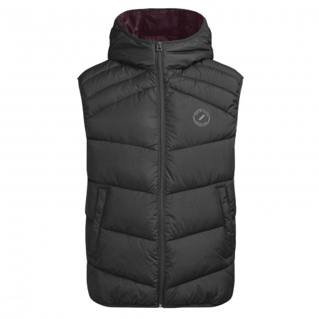 Jack & Jones Quilt Padded Gilet Body Warmer Asphalt | Jean Scene