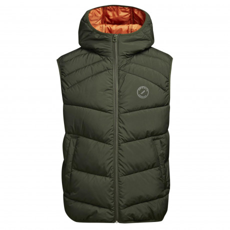 Jack & Jones Quilt Padded Gilet Body Warmer Forest Night | Jean Scene