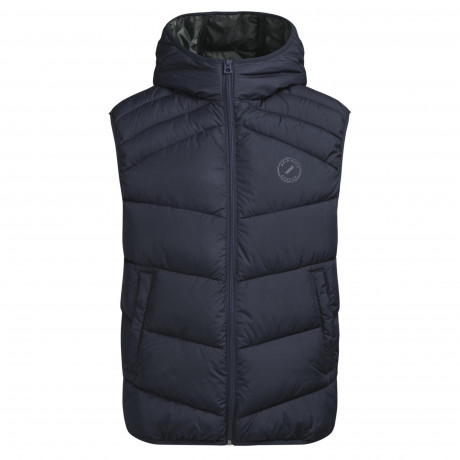 Jack & Jones Quilt Padded Gilet Body Warmer Total Eclipse Blue | Jean Scene