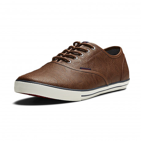 Jack & Jones Mens Scorpion PU Shoes Shoes Cognac | Jean Scene