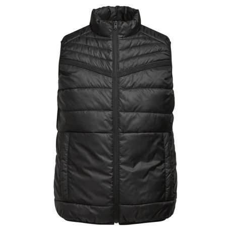 Jack & Jones Quilt Padded Gilet Body Warmer Black | Jean Scene