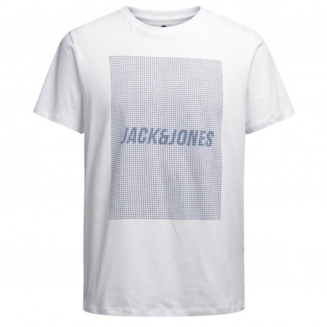 Jack & Jones Core Crew Neck Kevin Print T-shirt White | Jean Scene