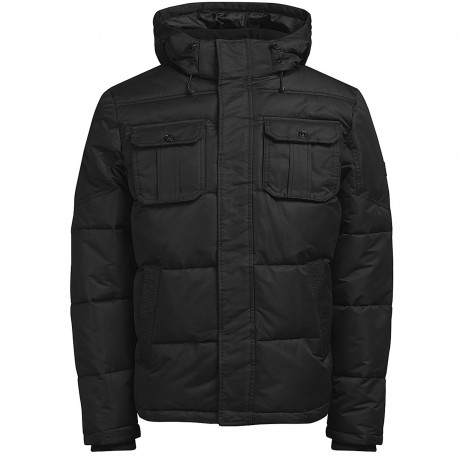 Jack & Jones Winter Padded Jacket Black | Jean Scene